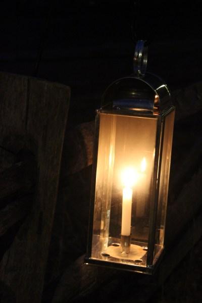A lantern on a dark night